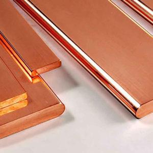 Токовая нагрузка на медные и алюминиевые шины прямоугольного сечения при различном числе полос на полюс или фазу
